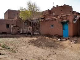 Pueblo Adobe Houses by Living History Taos Pueblo Taos New Mexico