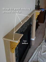 How To Build Fireplace Surround by How To Build Fireplace Mantel 102 Part 3 Make The Collar