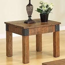 distressed wood end table distressed wood coffee table glass coffee table reclaimed wood