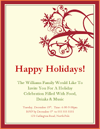 free holiday invitation templates free christmas party invitation