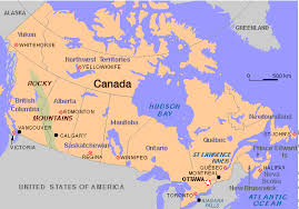 canadian map capitals map of canada with cities and capitals major tourist