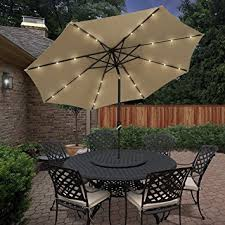 Lighted Patio Umbrella Best Choice Products 10 Deluxe Solar Led Lighted
