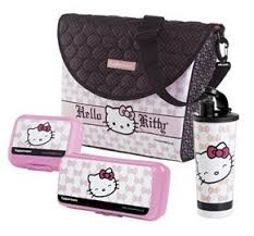 tupperware kitty fashion lunch couture black pink