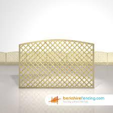 convex diamond trellis fence panels 4ft x 6ft natural berkshire