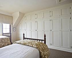 Built In Wall Closet Houzz - Bedroom wall closet designs