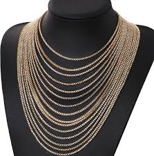 multi gold necklace images Fashion cool gold multi layer chain necklace wholesale yiwuproducts jpg