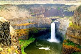 Diy frame washington state palouse falls aerial view scenery