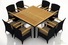 9 Piece Wicker Patio Dining Set - harmonia living arbor coffee bean 9 piece arm chair dining set