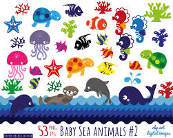 cartoon sea creatures clipart clip art library