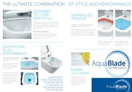 ideal standard concept air aquablade close coupled wc pan 665mm