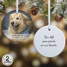 personalized pet ornament 2 sided pet photo
