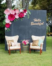 bridal shower decor large paper flower wall wedding shower backdrop paper flower
