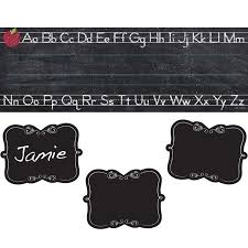 Name Plate Desk Chalk It Up Alphabet Nameplate And Name Tag Set