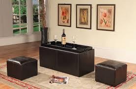 Espresso Ottoman Coffee Table Roundhill Furniture