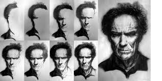 clint eastwood portrait process by whitneyw on deviantart