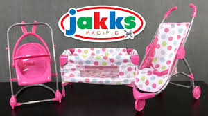 Graco Baby Doll Furniture Sets by Honestly Cute Deluxe Nursery Set From Jakks Pacific Youtube