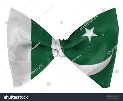 Pakistane Flag Pakistan Pakistani Flag On Bow Tie Stock Photo 120861226
