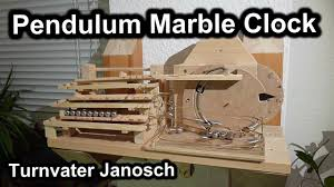 pendulum rolling ball clock en homemade 100 mechanical marble