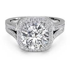 ritani engagement rings ritani cushion halo v white gold semi mount