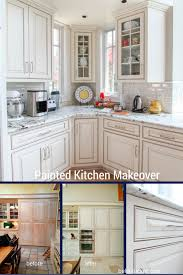 cabinet painted kitchen cabinets before and after on the v side
