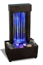 table top water fall new changing led lights indoor tabletop water fountain waterfall zen