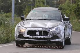 maserati levante blacked out early maserati levante suv prototype spotted motor trend wot