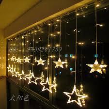 Curtain Stores Ssm Glitter Christmas String Lights Stars Led Lights Window