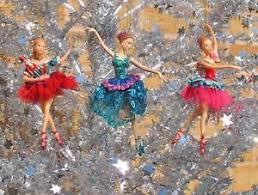 gisela graham nutcracker ballerina tree decoration