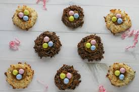 coconut easter eggs coconut macaroon nests