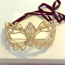 rhinestone masquerade masks 40 jewelry gold rhinestone masquerade mask from roxie s