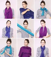 how to tie a scarf with gifs 18 ways to tie a scarf instyle com