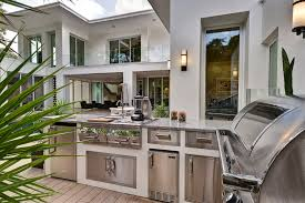 Houzz Patio Furniture Houzz Outdoor Kitchens Deck Contemporary With Marble Countertop