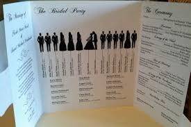 wedding program 15 creative wedding program ideas bridalguide