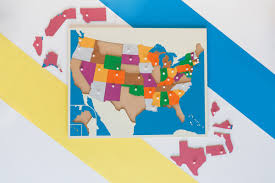 usa puzzle map montessorium