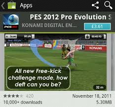 all androids pes 2012 available for all androids