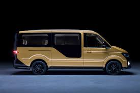 electric volkswagen van vw unveils an electric van for its moia ride sharing service