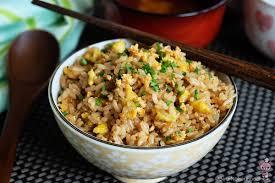 rice cuisine japanese garlic fried rice food