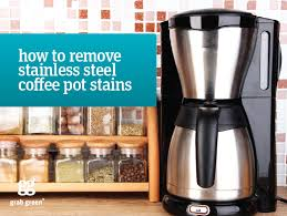 How to Remove Coffee Pot Stains