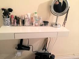 Makeup Vanity Ideas For Small Spaces Alternative Diy Makeup Vanity Shelf All Things Personal