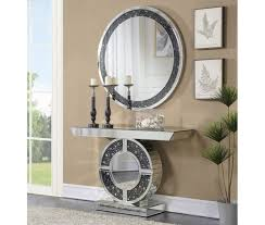 Mirrored Console Table with Modern Mirrored Console Table