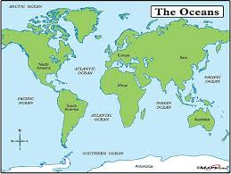 world map oceans seas bays lakes 34 best how meny oceans and seas images on places to