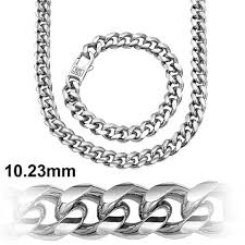silver bracelet chains images Cuban link chain platinium plated 10 2 mm solid 925 sterling jpg