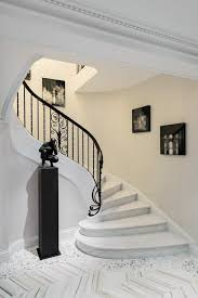 Black Banister Marble Stairs Staircase Contemporary With Black Banister