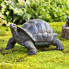 plow hearth tortoise family resin garden accents statue