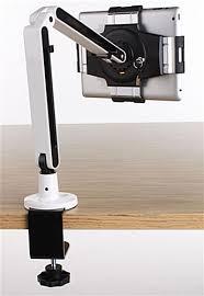 ipad desk mount maneuverable dual bending arms