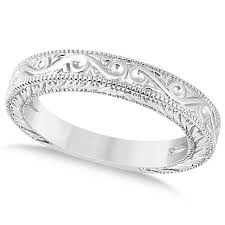 unique women s wedding bands women s unique filigree wedding bandmilgrain edge 18k white gold