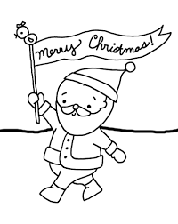 coloring pages santa say merry christmas coloring pages for kids