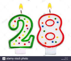 number birthday candles birthday candles number twenty eight stock photo 86373827 alamy