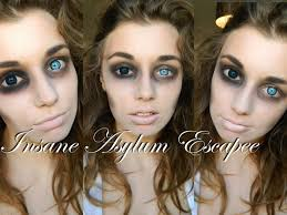 insane asylum escapee halloween makeup tutorial costumes cosplay