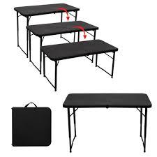 fabriquer une table pliante table pliante interieur exterieur hauteur reglable jardin topkoo